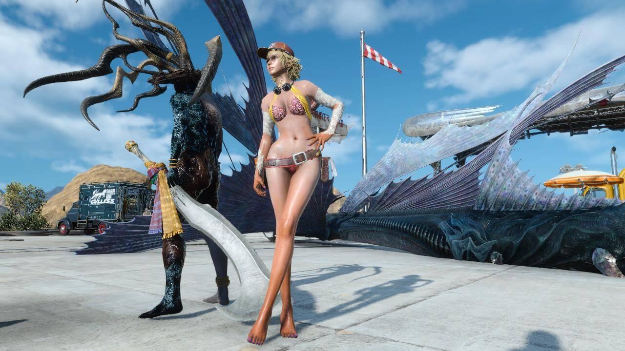 Final fantasy 15 big boobs lady Final Fantasy Xv Gets Nude Mods Hentai Reviews